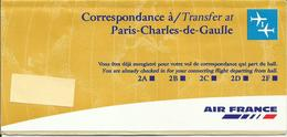 AIR FRANCE - Pochette Correspondance - Tickets