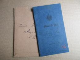 Militärpass - 1884 - Documents