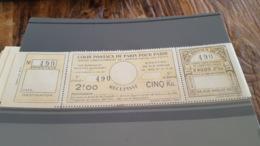 LOT 430238 TIMBRE DE FRANCE NEUF** LUXE N°140 COLIS POSTAUX DE PARIS POUR PARIS - Paketmarken