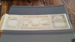 LOT 430241 TIMBRE DE FRANCE NEUF** LUXE N°140 COLIS POSTAUX DE PARIS POUR PARIS - Paketmarken