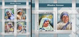 S. Tomè 2018, Mother Teresa, 4val In BF +BF - Mother Teresa
