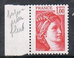 FRANCE N°1972c N**  Variété Sans Bande De Phosphore - France