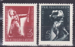 Yugoslavia 1951 Uprising In Croatia, MNH (**) Michel 662-663 - Unused Stamps