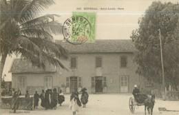 SENEGAL - SAINT LOUIS : La GARE Animée - Dos Simple - Ed. Fortier , Dakar - 2 Scans - Sénégal