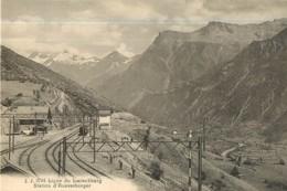 SUISSE - Ligne Du LOETSCBERG - Station D' AUSSBERGER - 2 Scans - VS Valais