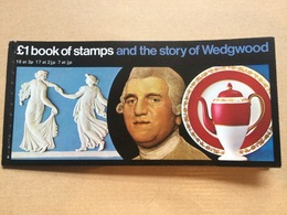 GB - DX1 Story Of Wedgewood Booklet Complete MNH Including 1/2p Side Band - 1952-.... (Elizabeth II)