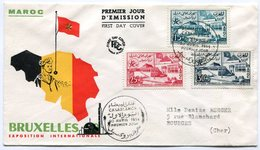 RC 10704 MAROC 1958 - BRUXELLES 58 EXPOSITION INTERNATIONALE FDC 1er JOUR TB - 1958 – Brussels (Belgium)