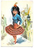 BAILE ANDALUZ - 1969 - Ed. SAVIR N° 207 - Danse Flamenco - Illustrateur Rezno (?) - Espagne