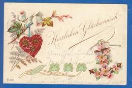 Blumen; Fleurs; 1902 Stempel Niedersessmar - Blumen