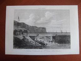 Réunion : Document De 1840 Par Gréhan « Nouveau Débarcadère De St Denis (Ile De Bourbon) » + 3 P De Texte - Documents Historiques