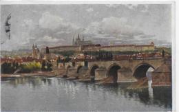 AK 0101  Prag - Karlsbrücke Mit Hradschin / Kusntverlag Hausner Um 1918 - Tschechische Republik