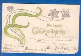 Blumen; Fleurs; Art Nouveau; Prägekarte; Gaufrée; 1900 - Blumen