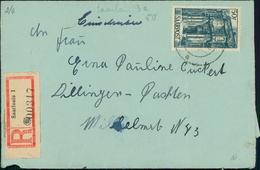 Saarland Bedarfsbrief Michel 251 O Saarlouis A Nach Dillingen D, Umschlag In Schlechter Erhaltung (12-229) - 1947-56 Ocupación Aliada