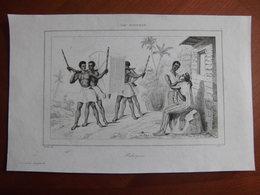 Réunion : Document De 1848 Par D'Avezac (Iles De L'Afrique) « Palanquin Ile Bourbon». - Documents Historiques