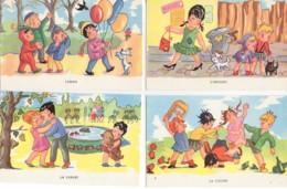 Beau LOT De 7 Cartes : Les 7 Péchés Capitaux (Editeur A Noyer) - Cartes Humoristiques