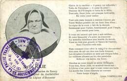 """SOEUR JULIE  CACHET COMISSION DE LA PRESSE FRANCAISE  """" Oeuvre Des Trains De Blesses Wagon Cantine  """" - Guerre De 1914-18"""