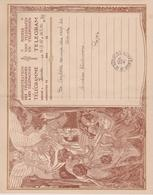 Huwelijk Mariage Administration TELEGRAM  N°2 Télégramme Déposé: ZOUTE 1927 Rampe Du Cerf 30 OSTENDE - Stamped Stationery