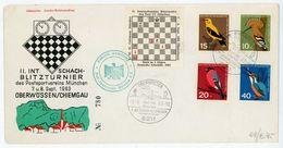"""Internationales Schach Blitz Turnier""""OBERWÖSSEN"""" Sonderstempel + Umschlag 1963 - Briefmarken"""