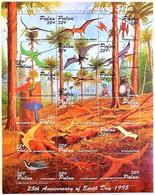 # Palau 1995**Mi.888-905  Flight Dinosaur , MNH [5;8] - Prehistóricos