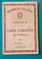 Carta D'Identità, 1972. - Documenti Storici