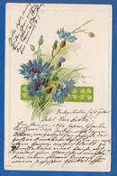 Blumen; Fleurs; Art Nouveau; Prägekarte; Gaufrée; 1906 - Fleurs