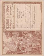 Huwelijk Mariage Administration TELEGRAM  N°2 Télégramme Déposé: BRUX. 1927 Rampe Du Cerf 30 OSTENDE - Stamped Stationery