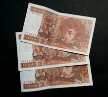 LOT De 3 Billets De 20 Francs BERLIOZ 1978 - 1962-1997 ''Francs''