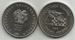 Armenia 100 Dram 1996. XXXII CHESS OLYMPIAD YEREVAN High Grade - Armenia