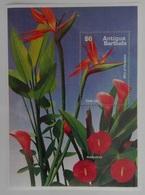 Anitgua&Barbuda 1995** Bl. 324. Flowers.Calla Lily. Anthurium MNH [5;12] - Pflanzen Und Botanik
