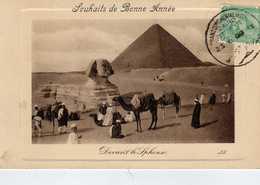 Souhaits De Bonne Année - Devant Le Sphinx - Gizeh