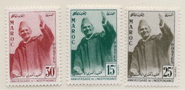 1957 - MAROCCO - MAROC - Yv:  Nr. 374/376 - NH - (UP121.17) - Marocco (1956-...)