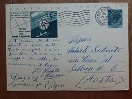 REPUBBLICA - Cartolina Postale Commemorativa Mostra D'oltremare - Viaggiata + Spese Postali - 1946-60: Storia Postale