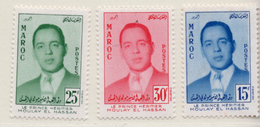 1957 - MAROCCO - MAROC - Yv:  Nr. 377/379 - NH - (UP121.17) - Marocco (1956-...)