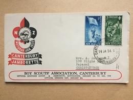 NEW ZEALAND 1954 Scout Cover - Canterbury Jamborette - Canterbury - Motukarara - Covers & Documents