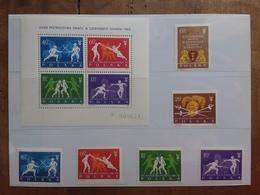 POLONIA - Mondiali Di Scherma Danzica 1963 - Serie + BF 29 Nuovi ** + Spese Postali - 1944-.... Repubblica