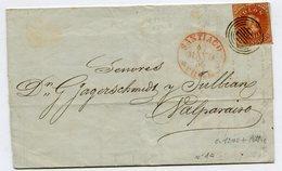 SANTIAGO Pour VALPARAISO LAC Du 05/05/1856 Paypal Not Accept - Chile
