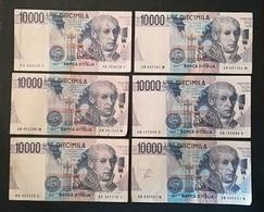 LOT De 6 BILLETS De 10 000 LIRE - [ 2] 1946-… : République