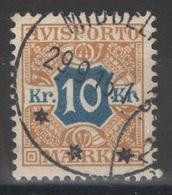Danemark - Journaux - YT 10 Oblitéré - 1907 - 1905-12 (Frederik VIII)