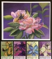 Congo 2001**Mi.1665-68,bl.114 Flowers MNH [8.68][7;31] - Plants