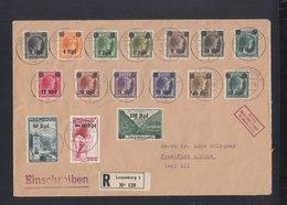 Besetzung Luxemburg R-Brief 1941 Nach Frankfurt A. M. - Occupation 1938-45
