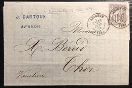 1879 Sage N°77 Obl 15c Gris N/U Oblitéré Du 16 Juin 1878...soit Un Dimanche  !! Jour Férié ... - 1876-1898 Sage (Type II)