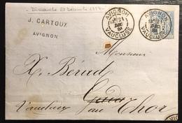 1879 Sage N°90 Obl 15c Bleu N/U Oblitéré Du 21 Décembre 1884...soit Un Dimanche  !! Jour Férié ... - 1876-1898 Sage (Type II)