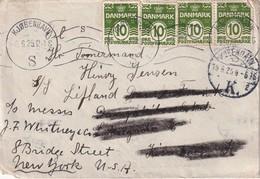 DANEMARK 1925 LETTRE DE COPENHAGUE - 1913-47 (Christian X)