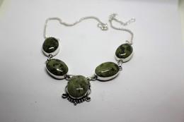 Collana Di Unakite Verde  Misura 49 Cm. - Collane/Catenine