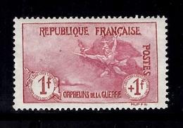 France Orphelins YT N° 154 Neuf *. Gomme D'origine. Très Frais. A Saisir! - France