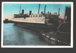 Port De Dunkerque - Manoeuvre Ferry-Boat Quittant Le Port - 1950 - Boot / Bateau - Dunkerque