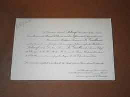 CARTE MARIAGE 26/08/1933 DOCTEUR LEBOEUF SENATEUR NIEVRE, MAIRE CHARITE-SUR-LOIRE. CHEF CLINIQUE  LE GUILLANT - Cartes De Visite