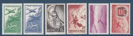 Monaco Poste Aérienne - PA YT N° 2 à 7 - Neuf Avec Charnière - 1941 - Poste Aérienne
