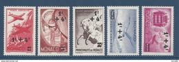 Monaco Poste Aérienne - PA YT N° 8 à 12 - Neuf Avec Charnière - 1945 - Poste Aérienne