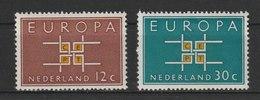 MiNr. 806 - 807 Niederlande  / 1963, 16. Sept. Europa. - 1949-1980 (Juliana)